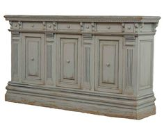 Shop for Sarreid Italian Credenza Painted Finishi, 28205, and other Living Room Cabinets at Luxe Home Interiors Designer Catalog - Clone in Tulsa, OK. Solid walnut painted finish. 3 doors 7 drawers 3 removable shelves.