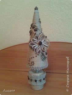 Ano Novo modelagem de design de artesanato produto Cordéis + Coffee = espinha Estuque Beads Cones laço de fita Coffee Twine 2 fotos