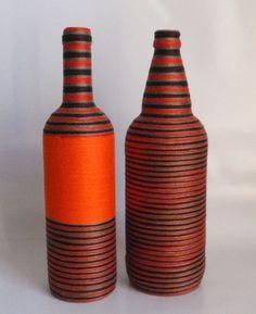 Garrafa Decorada com linha - Composê Duplo