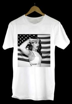 Lana Del Rey With America Flag design clothing by TypeShirtGong, $15.99