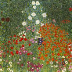 Art Nouveau, Art Klimt, Ouvrages D'art, Garden Painting, Painting Art, Canvas Prints, Art Prints, Canvas Art, Fine Art
