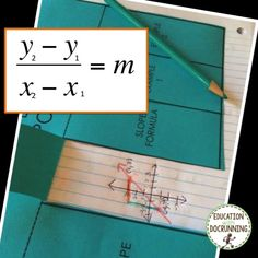 Slope Find the Slope from 2 points Interactive Notebook foldable Interactive Notebooks, Graphic Organizers, Teaching Math, Math Lessons, High School, Notes, Student, Education, Learning