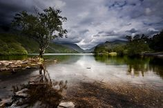 by Leighton Roberts on Flickr.  Llyn Padarn is a glacially formed lake in Snowdonia, north Wales.
