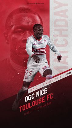 Designs for Toulouse FC players Sports Advertising, Sports Marketing, Advertising Design, Poster Design Layout, Print Layout, Flyer Design, Social Design, Ogc Nice, Hero Poster