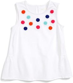 7368d22fbf60 Kate Spade embellished flower tank (Toddler   Little Girls) Little Girl  Outfits