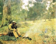 "A ""Swagman"" down on his luck by Frederick McCubbin 1889"