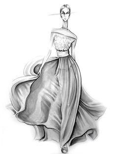 Fashion illustration in marker by Lara Wolf  #fashion #illustration #marker