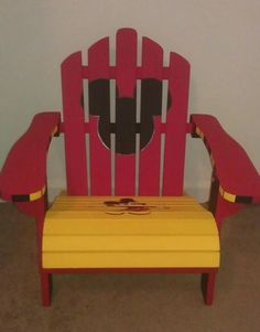 Mickey Mouse Handpainted Adirondack Chair by AshleysPaintedStudio on Etsy