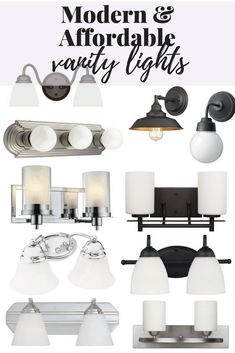 10 Vanity Lights I Love – Love & Renovations Home Decor Styles, Cheap Home Decor, Diy Home Decor, Budget Bathroom, Bathroom Ideas, Bathroom Interior, Vanity Lighting, Bathroom Lighting, Home Decor Inspiration