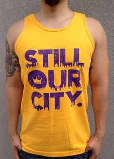 Los Angeles Lakers Still Our City T shirt S M L in by RECSHOPCO, $24.99