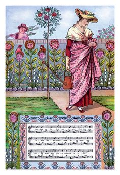 My Lady's Garden, by Walter Crane