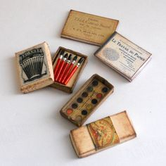 1/12 Scale Miniature Vintage Painting Art Set by dianecostanza, $24.99