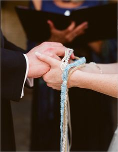 I love this Celtic tradition of handfasting...or 'Tying the Knot'!