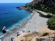 The amazing view when reaching Preveli Beach