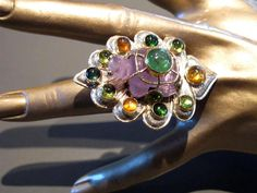 Carole Midy for Pietra Dura Turtle Ring