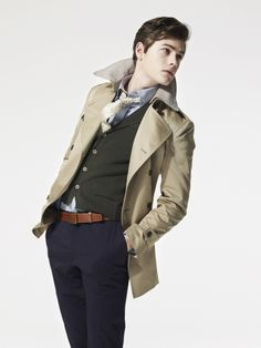 After watching BBC's Sherlock, I've been really digging the layered/trench look.