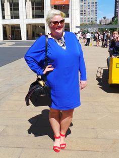 #NYFW Plus size street style Looks we love- Margie Holla