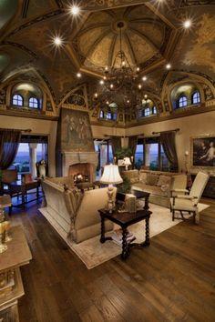 Beautiful architecture; stunning living room.