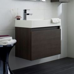 Ultra Zone Wall Mounted Basin and Cabinet Vanity Unit