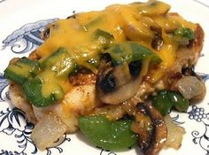 """Easy, delicious and healthy Grilled """"Smothered"""" Chicken recipe from SparkRecipes. See our top-rated recipes for Grilled """"Smothered"""" Chicken. Low Carb Menus, Low Carb Recipes, Cooking Recipes, Healthy Recipes, Atkins Recipes, Batch Cooking, Kitchen Recipes, Healthy Meals, Yummy Recipes"""