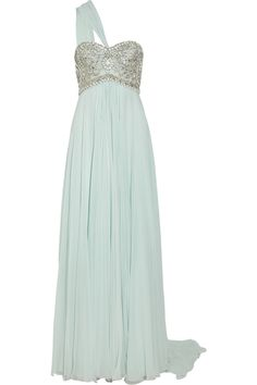 Embellished silk-chiffon gown by Marchesa