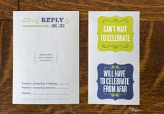 RSVP card...choose the corresponding sticker rather than check the box.