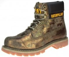 Caterpillar Colorado Womens Bronze Lace Up Work Boots Brown Fashion