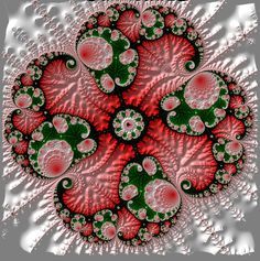 Fractal art... This looks like a quilt block (??)