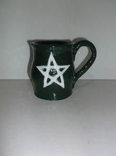 Witch Mug, Pentagram Symbol, Pentacle, Wicca, Pagan Mug, Handcrafted, Ceramic