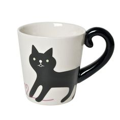 Black Cat Tail Mug