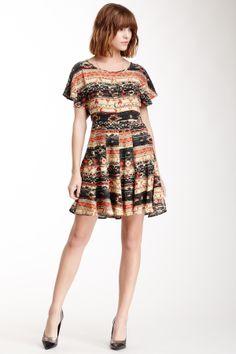 Jack by BB Dakota Andre Yukatec Printed Rayon Crepon Dress on HauteLook