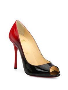 CHRISTIAN LOUBOUTIN Ombré Patent Leather Peep-Toe Pumps. #christianlouboutin #shoes #pumps