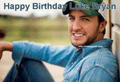 Happy Birthday Luke Bryan, American country music artist. For more famous birthdays http://holidayyear.com/birthdays/