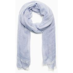 Violeta BY MANGO Striped Cotton Scarf ($20) ❤ liked on Polyvore