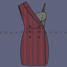 Dress, Flat sketch, Vector, Illustration, Fashion