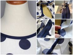 Easy way to finish neckline or sleeves using bias binding tape