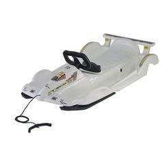 Vehicule pentru copii :: Saniute copii :: Saniute cu volan :: Sanie Race white Alpen Gaudi