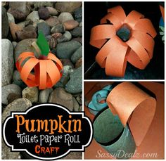 Make a fun pumpkin toilet paper roll craft for Halloween! Kids will love this cheap and easy art project for the holiday and fall season.