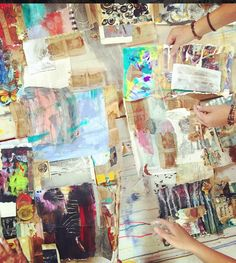 Many hands make light (art)work. #Callofthewildsoul #workshops #FloraBowley…