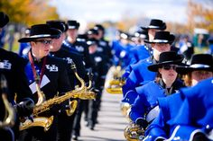 UB Thunder of the East marching band before the football game.