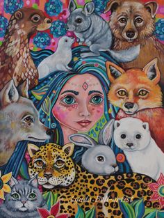 Petra the Furry godmother - A3 print by Frecklepop on Etsy
