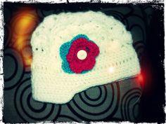 Gorro de lana para niña con flor y visera - Gorritos de Lana -  DuwenGorritos de Lana – Duwen d5da5d79f467