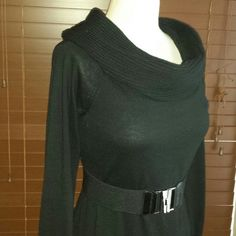 Black Sweater dress ( final price drop ! Cute dress, in good condition (belt not included) ( next day shipping on all my items )   International Concepts Sweaters