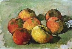 CÉZANNE site/non-site. Sala de Exposiciones temporales del Museo Thyssen-Bornemisza. Paul Cézanne. Siete manzanas y tubo de color. (1878-1879)