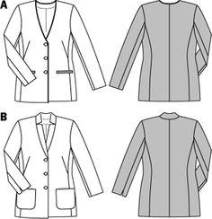 Simplicity Creative Group - Burda Style Jackets, Coats, Vests