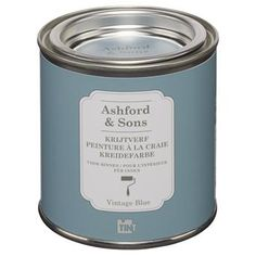Voor muur achter de kachel : KRIJTVERF ASHFORD&SONS vintage blue bij Kwantum kopen