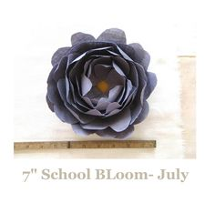fabric flower brooche