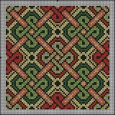 Brickwork or canvaswork, good for almoner (bag) Gallery.ru / Фото - Подушки - natamalin/ all I am seeing is TAPESTRY crochet! what a feat this would be! Celtic Patterns, Loom Patterns, Beading Patterns, Embroidery Patterns, Pillow Patterns, Cross Stitch Designs, Cross Stitch Patterns, Cross Stitching, Cross Stitch Embroidery