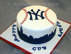 New York Yankees Birthday Cake  on Cake Central                                                                                                                                                      More