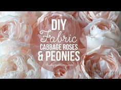How to Make Realistic DIY Fabric Roses and Peony Flowers, My Crafts and DIY Projects
